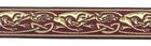 10m Celtic-Borte Webband 22mm breit Farbe: Bordeaux-Gold