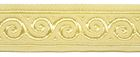 10m Jacquard Borte Webband Stoff 22mm breit Farbe: Beige