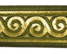 10m Jacquard Borte Webband Stoff 22mm breit Farbe: Moosgrün