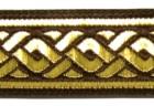10m Mittelalter Borte Webband 22mm breit Farbe: Braun-Gold