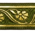 10m Mittelalter Borte Webband 22mm breit Farbe: Moosgrün