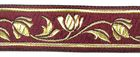 10m Mittelalter Borte Webband 22mm breit Farbe: Bordeaux-Gold
