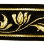 10m Mittelalter Borte Webband 22mm breit Farbe: Schwarz-Gold