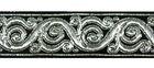 10m Brokat Borte Webband 22mm breit Farbe: Silber-Schwarz