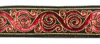 10m Brokat Borte Webband 22mm breit Farbe: Schwarz-Rot-Gold