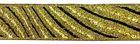 10m Streifen Borte Webband 22mm Farbe: Schwarz-Lurex-Gold