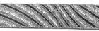 10m Streifen Borte Webband 22mm Farbe: Schwarz-Lurex-Silber