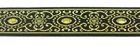 10m Brokat Borte Webband 16mm breit Farbe: Schwarz-Lurexgold