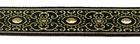 10m Brokat Borte Webband 16mm Farbe: Schwarz-Peach-Lurexgold