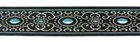 10m Brokat Borte Webband 16mm Farbe: Schwarz-Blau-Lurexsilber