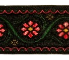 10m Blumenborte 22mm breit Farbe: Rot-Grün