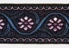 10m Blumenborte 22mm breit Farbe: Blau-Violet