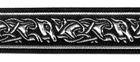 10m Mittelalter Borte Webband 25mm breit Farbe: Schwarz-Silber