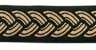 10m Mittelalter Borte Webband 25mm breit Farbe: Schwarz-Beige