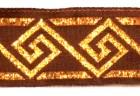 10m Mittelalter Borte Webband 25mm breit Farbe: Bordeaux-Lurexgold
