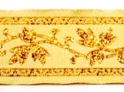 10m Mittelalter Borte Webband 25mm breit Farbe: Beige-Lurexgold