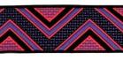 10m Webband Retroborte 25mm breit Farbe: Pink-Blaugrau-Schwarz