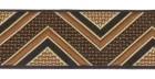 10m Webband Retroborte 25mm breit Farbe: Braun-Beige-Hellbraun-Schwarz
