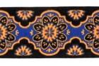 10m Webband 25mm breit Farbe: Orange-Blau-Schwarz