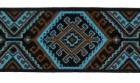 10m Webband Retroborte 25mm breit Farbe: Braun-Blau-Schwarz