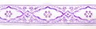 10m Medaillon-Borte Webband 25mm breit Farbe: Lila