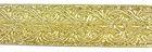 10m Brokat Borte Webband 35mm breit Farbe: Lurex-Gold