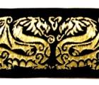 10m Drachen-Borte 35mm breit Schwarz-Gold