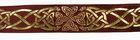 10m Keltische Borte Webband 35mm breit Farbe: Bordeaux-Gold