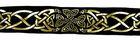 10m Keltische Borte Webband 35mm breit Farbe: Schwarz-Gold