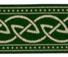 10m Keltischer Knoten weit Webband Borte 33mm breit Farbe: Grün-Gold