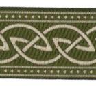 10m Keltischer Knoten weit Webband Borte 33mm breit Farbe: Moosgrün
