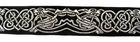 10m Keltische Borte Webband 35mm breit Farbe: Schwarz-Silber