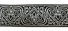 10m Borte Webband Arabeske 35mm breit Farbe: Schwarz-Silber