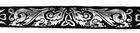 10m Keltische Borte Webband 35mm breit Schwarz-Silber