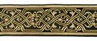 10m Keltische Borte Webband 35mm breit Farbe: Braun-Beige-Lurex-Gold