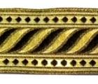 10m Brokat Borte Webband 35mm breit Farbe: Schwarz-Lurex-Gold