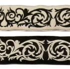 10m keltischer Borte 35mm breit Schwarz-Grau