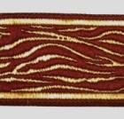 10m Borte Webband Muster Zebra 35mm breit Farbe: Bordeaux-Gold
