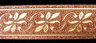 10m Brokat Borte Webband 35mm breit Farbe: Lurex-Kupfer