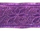 10m Brokat Borte Webband 35mm breit Farbe: Lurex-Lila