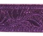 10m Mittelalter Brokat Borte Webband 35mm breit Farbe: Lurex-Lila