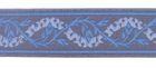 10m Mittelalter Borte Webband 35mm breit Farbe: Grau-Blau