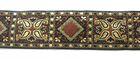 10m Kassetten Borte 25mm Farbe: Schwarz-Braun-Lurexgold