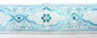 10m Medaillon-Borte Webband 25mm breit Farbe: Hellblau