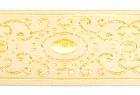 10m Brokat Borte Webband 16mm breit Farbe: Weiss-Lurexgold
