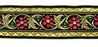 10m Blumen Borte Brokat Webband 35mm breit