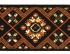 10m Borte Webband 35mm breit Farbe: Schwarz-Orange-Gold