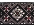 10m Borte Webband 35mm breit Farbe: Schwarz-Violett-Silber