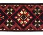 10m Borte Webband 35mm breit Farbe: Schwarz-Rot-Grün-Gold