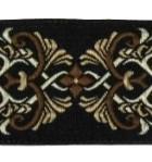 10m Borte Webband 35mm breit Farbe: Schwarz-Braun-Hellbraun-Beige